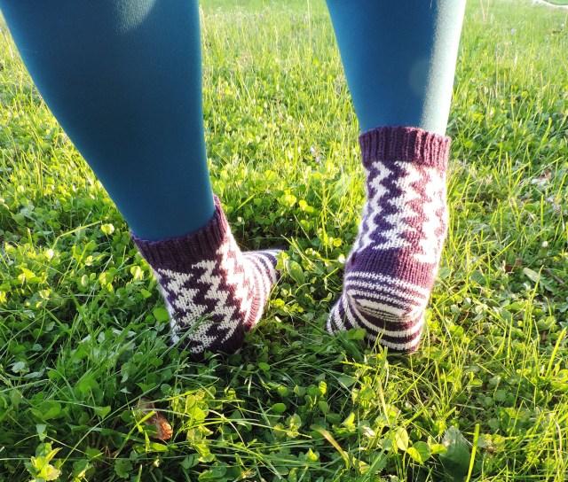 completed happy feet socks