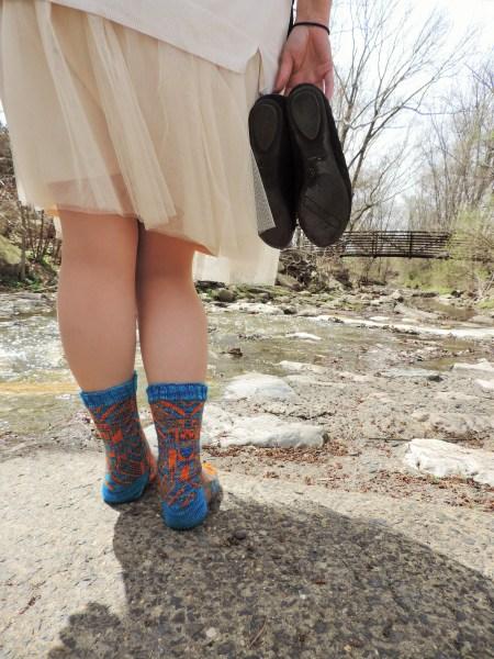 Dancing Robot Socks