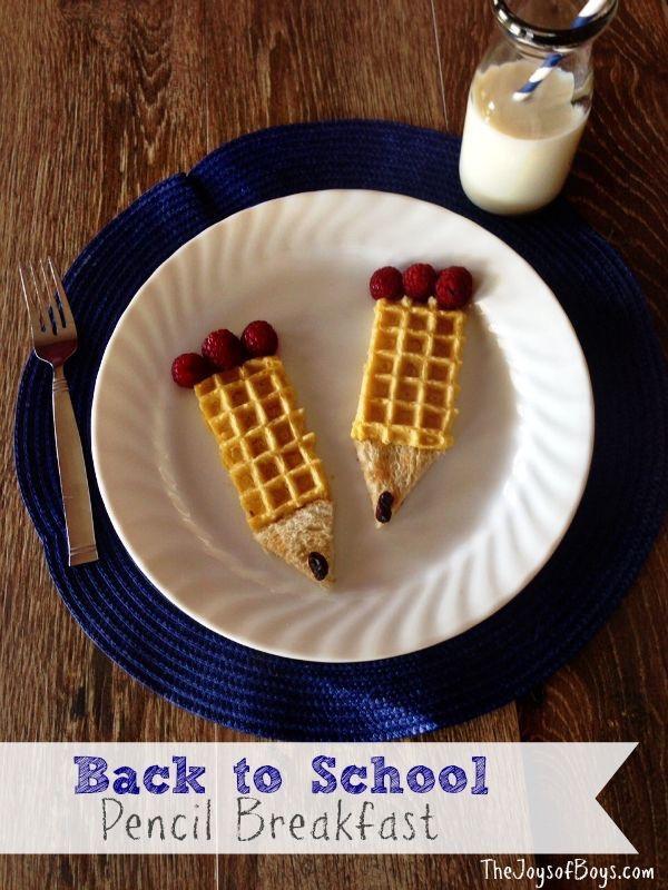Pencil Waffle Breakfast