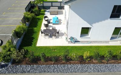 Création de jardin avec spa