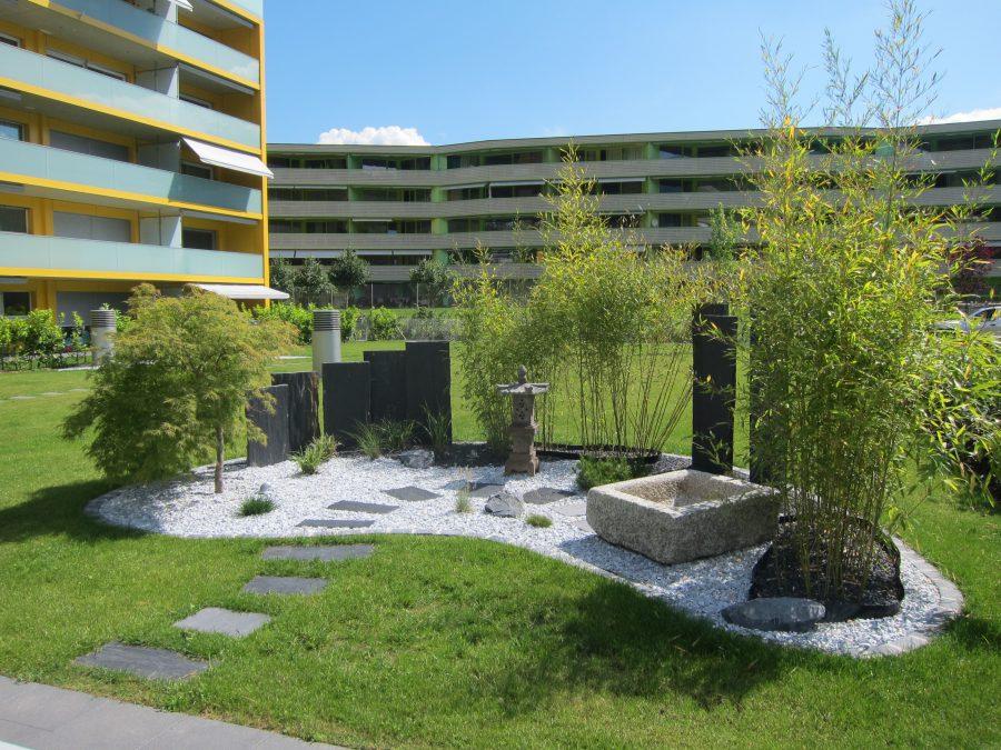 Jardin zen Lattion et Veillard Paysagiste en Valais