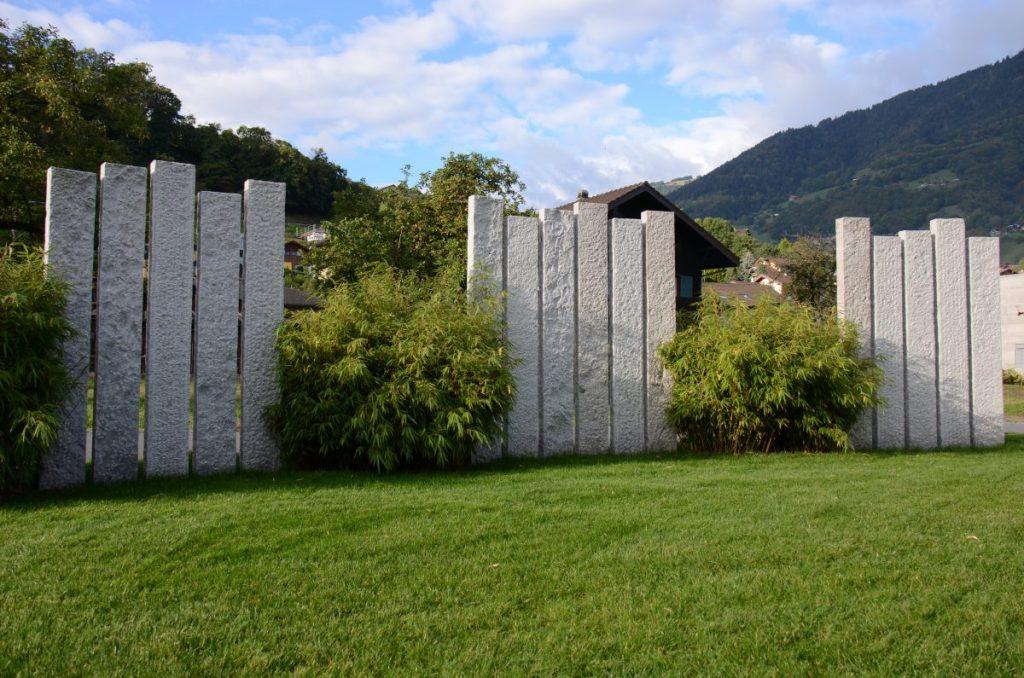Lattion et Veillard Paysagiste en Valais palissades en granit