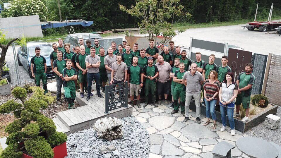L'équipe de paysagistes Lattion et Veillard Valais Suisse