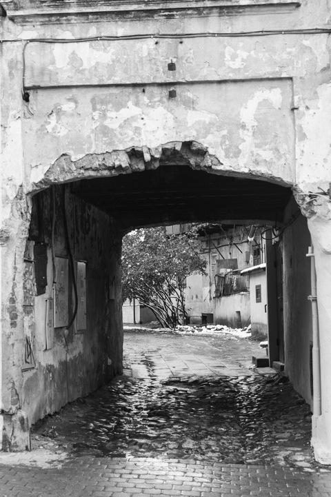 Bild: Blick in einen Hinterhof in Užupis.