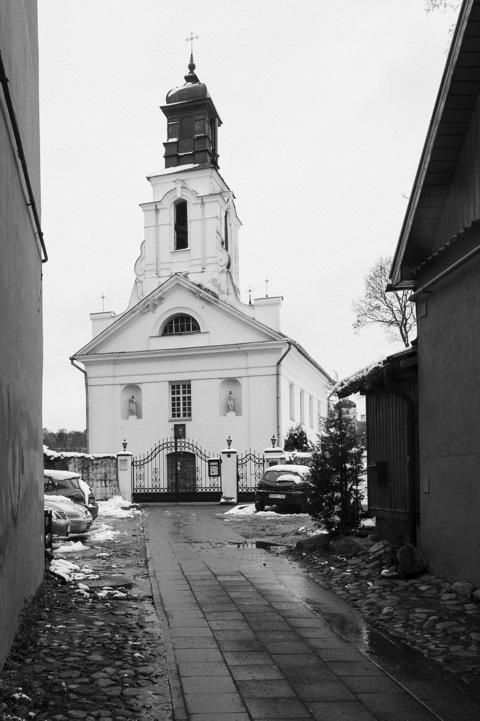 Bild: Die Kirche im Vilniuser Stadtteil Užupis.