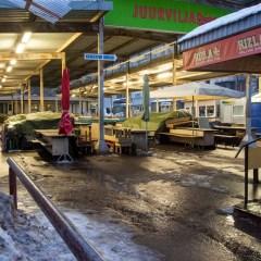 Bild: Auf dem Zentralmarkt - dem Keskturk - im Stadtteil Keldrimäe ist am frühen Morgen noch gar nichts los.