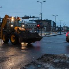 Bild: Winterdienst rund um die Uhr ist in Tallinn selbstverständlich. Hier gibt es oft große Mengen Schnee.