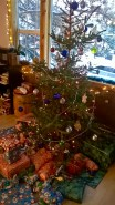 Bagged Christmas Tree with dressings