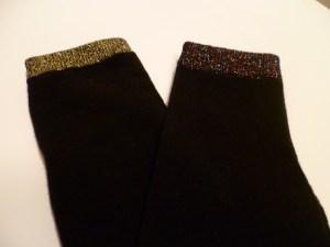 chaussettes bord irisé métallisé zeeman