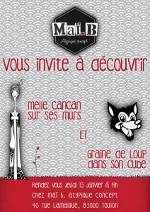 affiche vernissage melle cancan illustrations créations graine de loup