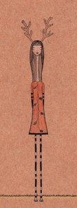 illustration femme cerf melle cancan
