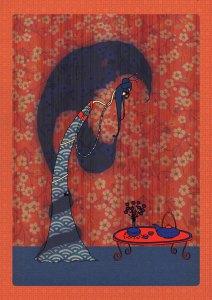 illustration japonaise melle cancan