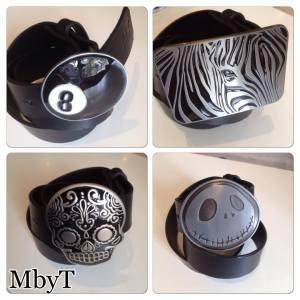 ceinture cuir boucles rock MbyT