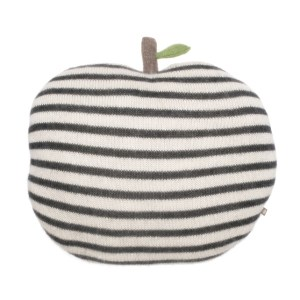 coussin-pomme-rayures-grises