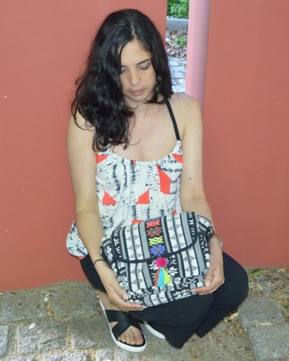 look ethnique sac monoprix outfit top suncoo