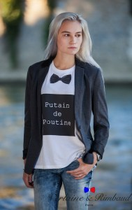 tee shirt message poutine bio verlaine rimbaud