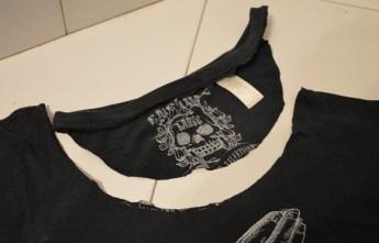 tshirt customisation recyclage débardeur échancré