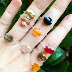 bagues chaine et pierre les petites garçonnes création bijoux