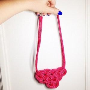 collier noeud marin corde les petites garçonnes création bijoux