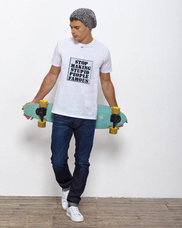 tee shirt homme message engagé bio verlaine et rimbaud