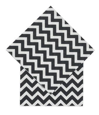 serviettes-papier-noir-blanc-geometrique-hema