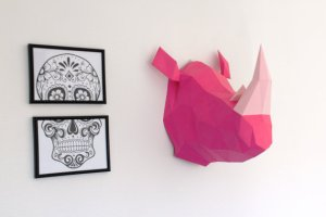 trophee-rhinoceros-papercraft-sculpaper-diy