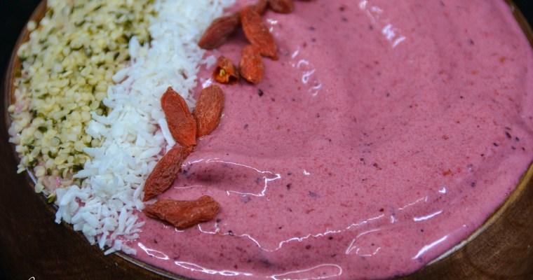 Smoothie bowl protéiné végétalien