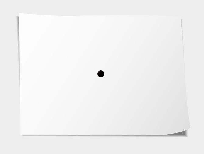 Il foglio e il punto nero