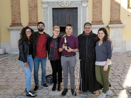 Il nuovo consiglio GiFra di San Bartolomeo in Galdo  insieme ai delegati del consiglio regionale e al Padre Provinciale