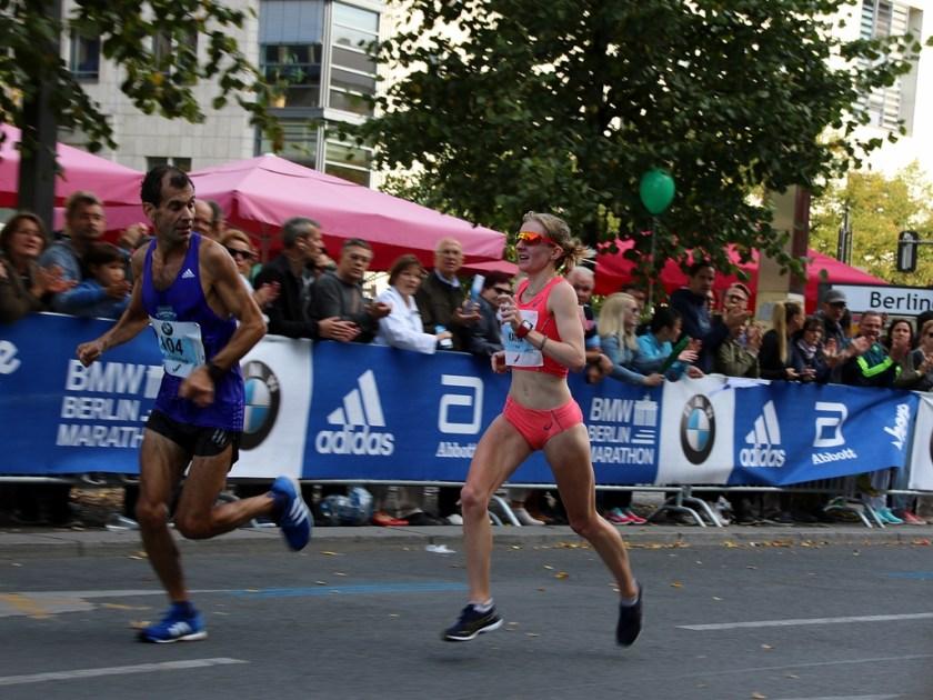 Katha Heinig beim Berlin-Marathon. Foto: Robert Steinruck