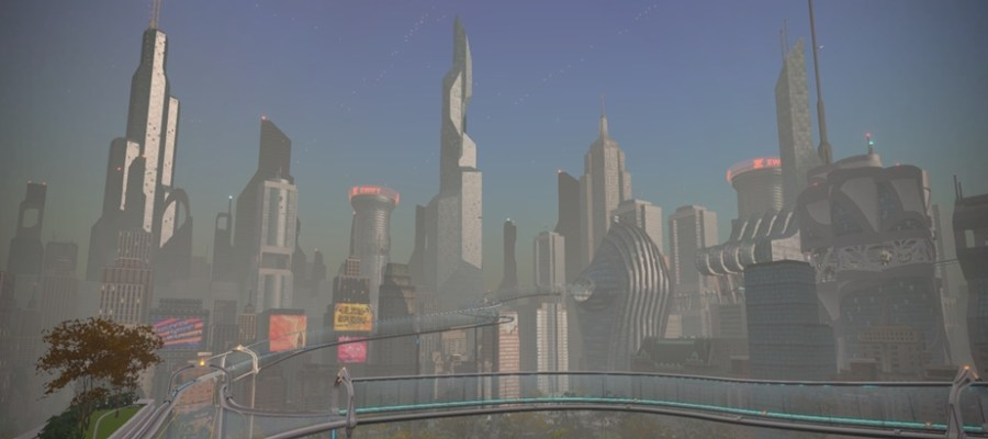 Die virtuelle New Yorker Skyline auf Zwift