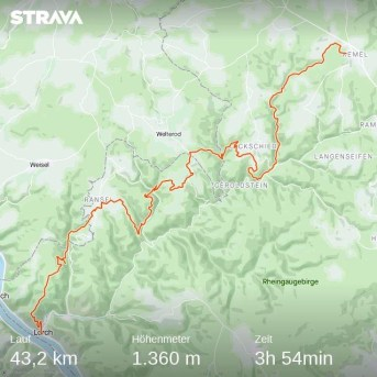 Die Strecke des Wispertaunussteigs führt quer durch den Wispertaunus von Kemel nach Lorch