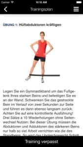 Ergänzende Übungen zum Laufen dürfen nicht fehlen - Quelle: Apple Store