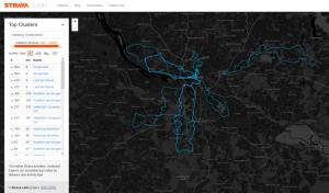 Populärste Routen - Quelle: http://labs.strava.com/clusterer