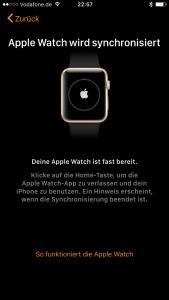 Einrichtung Apple Watch 2