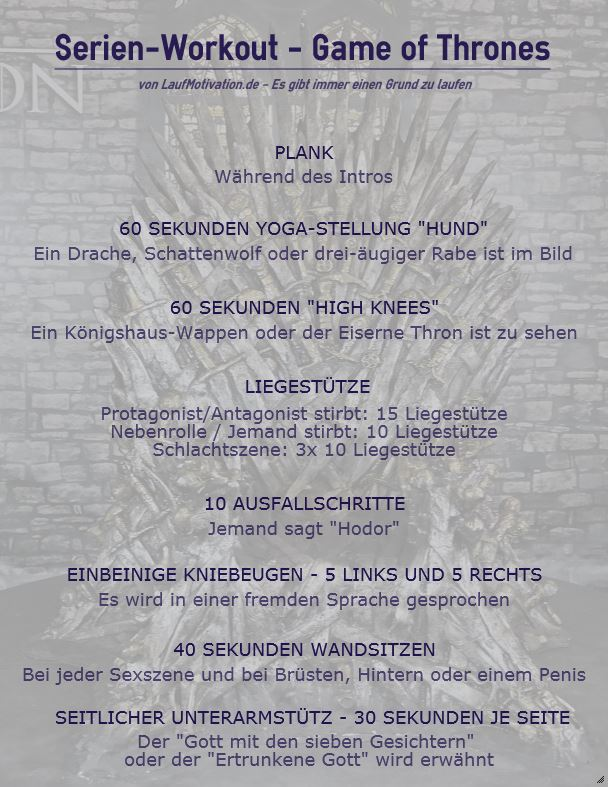 Game of Thrones - Workout