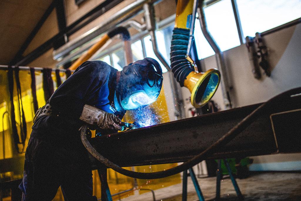 industri, foto af svejser