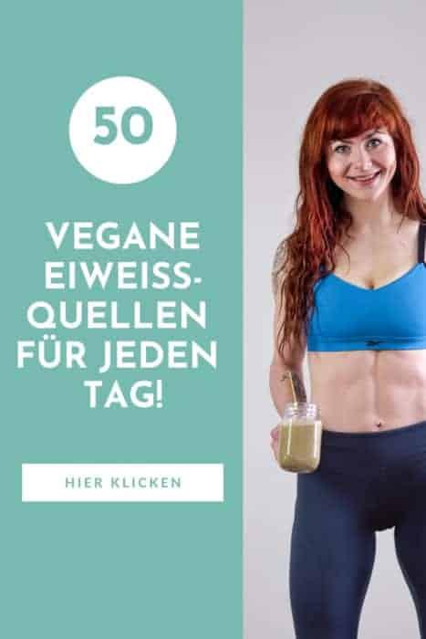Vegane Eiweißquellen - 50 pflanzliche eiweißreiche Lebensmittel als komplette Übersicht mit Nährwerten und Kalorien.