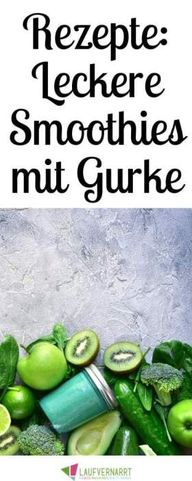 Die besten Smoothies mit Gurke - hier bekommst du fünf neue Smoothierezepte mit Gurken - erfrischend und gesund. #smoothie #detox #gurke #rezept #gesundessen