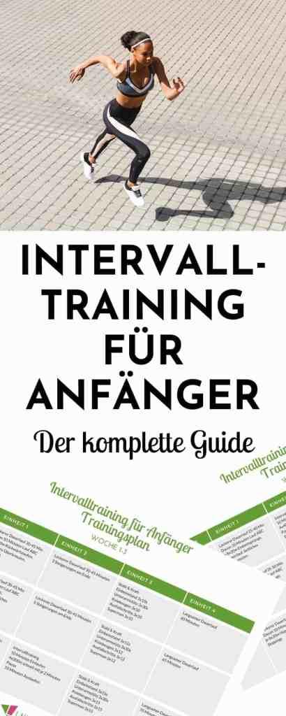 Der Intervalltraining Trainingsplan Laufen für Anfänger! Hier erhältst du alle Tipps, Informationen und Tricks für den Einstieg ins Intervalltraining.  #laufen #trainingsplan #anfänger #intervalltraining