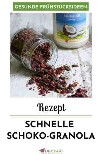 Schoko-Granola zum #Frühstück - ein leckeres und schnelles #Rezept (#vegan, #glutenfrei, #gesund)