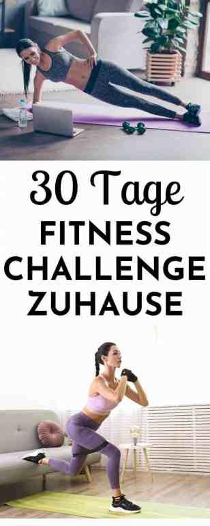Bereit für eine #Fitnesschallenge der anderen Art? Die 30 Tage #Fitness #Challenge #zuhause bietet dir durchdachtes und effektives #Training im #Home Gym über einen Monat an. Elemente aus #Ernährug und #Selbstfürsorge runden das Ganze ab und machen die Challenge zu deinem Begleiter für Zuhause. Damit du auch während des zweiten Lockdowns fit bleibst!