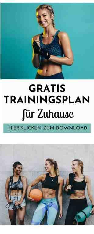 Trainingsplan #Zuhause #Frau - gratis als PDF! Hier erhältst du einen kostenlosen #Trainingsplan für das #Fitnesstraining zuhause für #Frauen. Außerdem teile ich mit dir die besten #Fitnessübungen für dein #Krafttraining und zahlreiche Tipps für das effektive #Training zuhause für #Muskelaufbau und #Abnehmen.