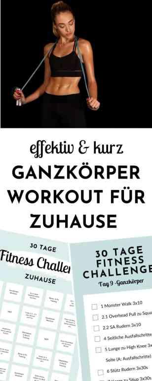 #Fat #Burning #Full #Body #Workout - Ganzkörper #Training für zuhause zum #Definieren und #Straffen. Mit diesem Workout stimulierst du alle Muskeln deines Körper und bringst dich richtig ins Schwitzen. Es ist geeignet für #Anfänger und perfekt als #Sport für #Frauen. Tag 16 der 30 Tage Fitness Challenge zuhause. #fitnesschallenge