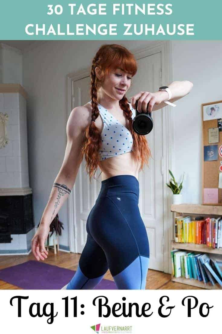 Schlanke Beine und fester Po - dieses Workout an Tag 11 der 30 Tage Fitness Challenge zuhause versorgt dich mit perfekten Fitnessübungen für den Booty. Das Training kommt ganz ohne Geräte aus und ist perfekt für Muskelaufbau und Abnehmen.