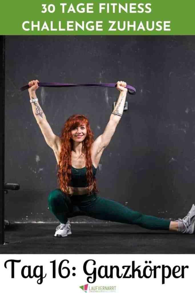 #Fat #Burning #Full #Body #Workout - Ganzkörper #Training für zuhause zum #Definieren und #Straffen. Mit diesem Workout stimulierst du alle Muskeln deines Körper und bringst dich richtig ins Schwitzen. Es ist geeignet für #Anfänger und perfekt als #Sport für #Frauen. Tag 16 der 30 Tage Fitness Challenge zuhause. #fitnesschalleng
