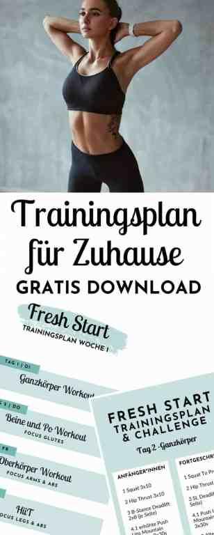 #Sport und #Fitness für #Anfänger und #Fortgeschrittene - Gratis 4 Wochen #Trainingsplan für #zuhause - Dieser #Fitnessübungsplan hilft bei #Muskelaufbau und #Abnehmen.