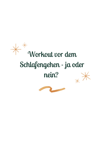 #Abends #trainieren - darfst du vor dem #Schlafengehen noch ein #Workout machen? Die Antwort findest du hier.