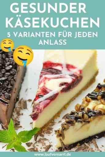 Hier kommen fünf geniale und super #simple #Rezepte für #Käsekuchen - sie sind #vegan, #glutenfrei und #gesund. Dieser #Cheesecake ist garantiert #zuckerfrei und unglaublich lecker!