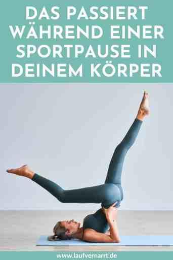 Sportpause - das passiert während der Trainingspause mit deinem Körper und Geist.